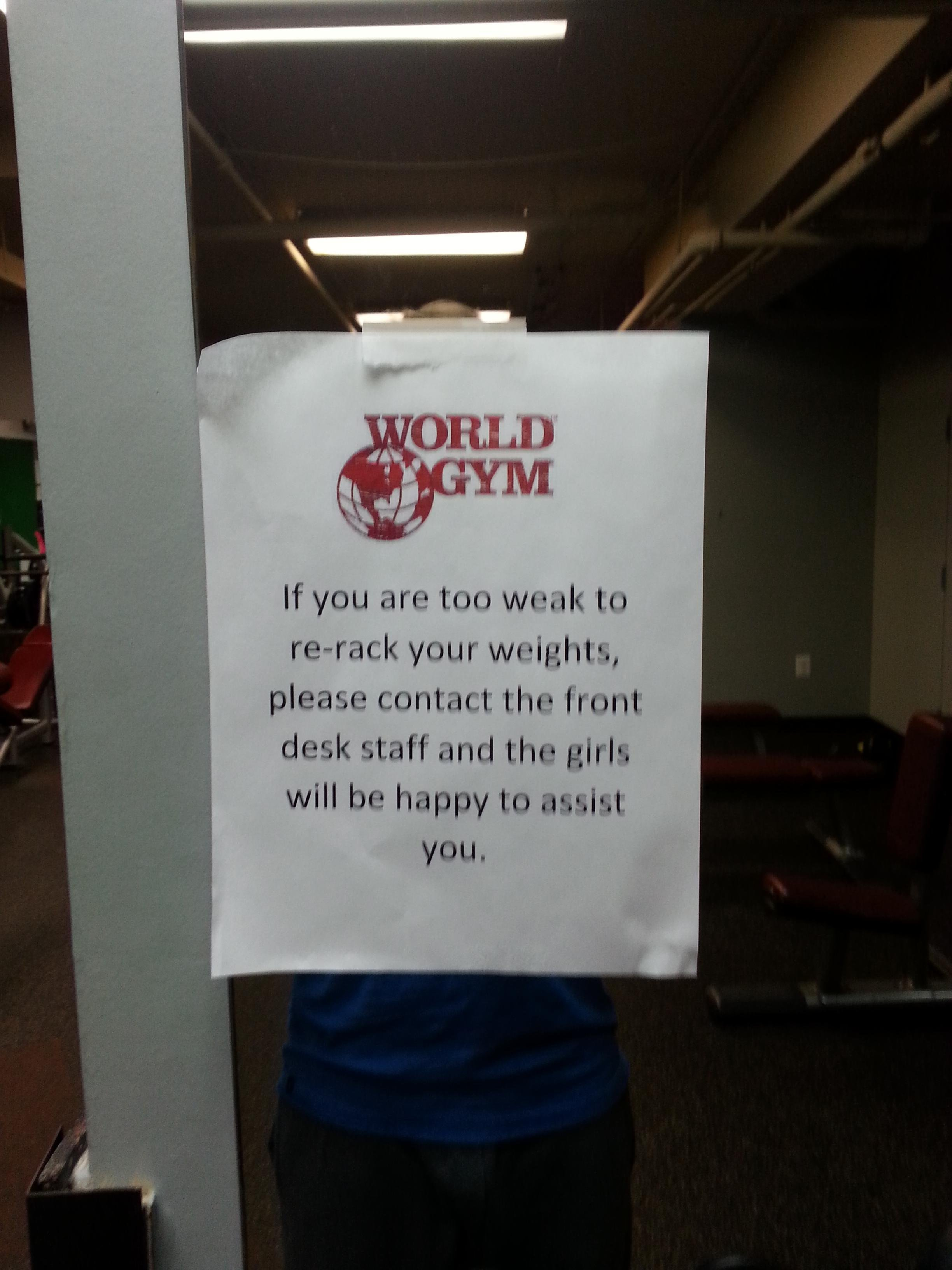 My new gym is so thoughtful