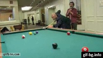 Maybe the best billiard player