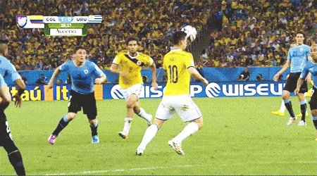 James Rodriguez (Colombia) goal against Uruguay.