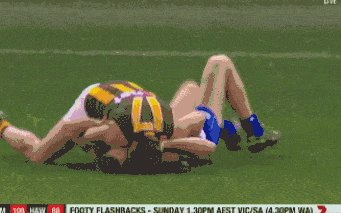 Australian Player Choking Out a player During a Game