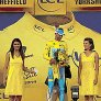 Tour de France stage winner Vincenzo Nibali tries to kiss a podium girl, gets rejected.