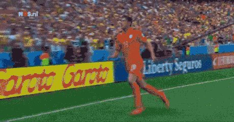 Huntelaar kicks the flag after his penalty goal