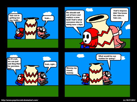 Shy Guy and Snifit - Strip 1
