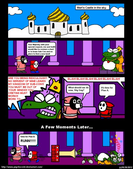 Shy Guy and Snifit - Strip 2