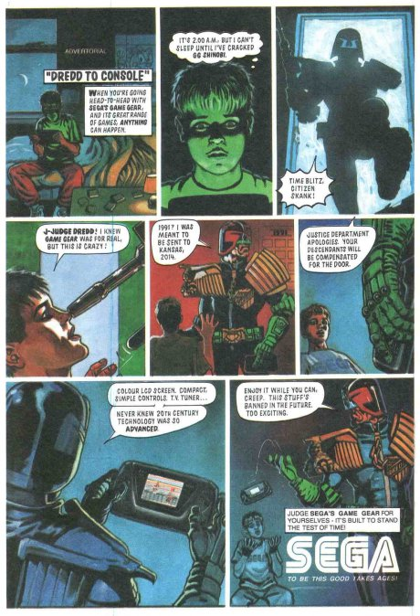 An old Judge dredd add.