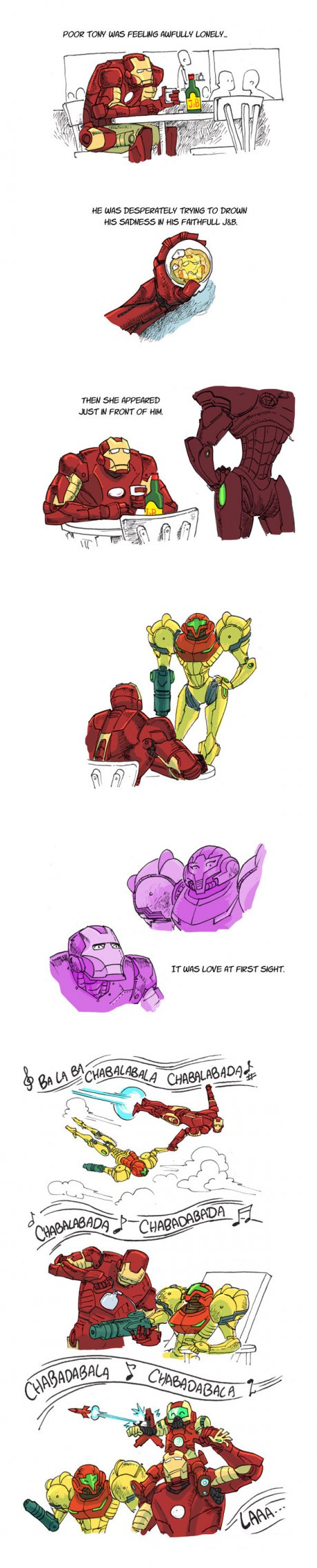 Iron Man and Samus